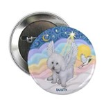 Bichon Frise Dusty in Pastel Clouds Button