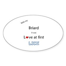 Briard Lick Oval Decal