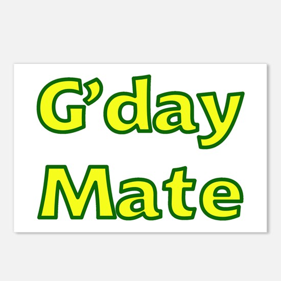 G'day Mate Postcards (Package of 8)