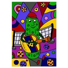 Pickleball Abstract Poster