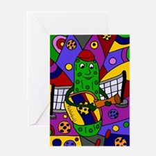 Pickleball Abstract Greeting Cards