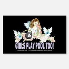 Girls Play Pool Too 8 Ball Decal