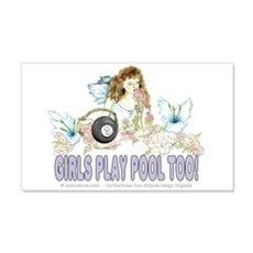 Girls Play Pool Too 8 Ball Wall Decal