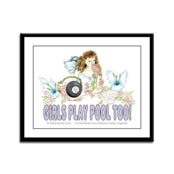 Girls Play Pool Too Wildflower Fairy Framed Print