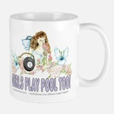 Girls Play Pool Too 8 Ball Mug