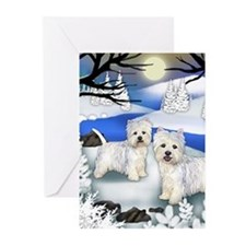 Cute West highland terrier easter Greeting Cards (Pk of 20)