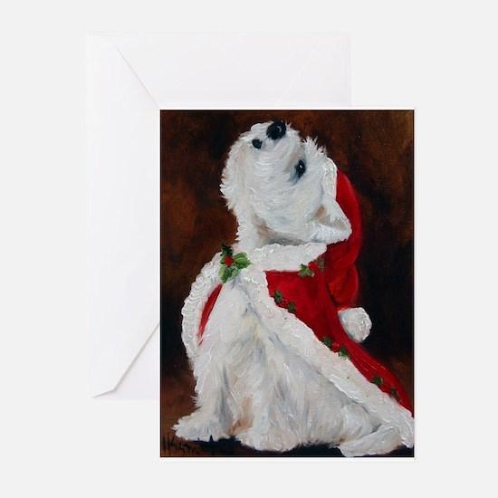 Cute Westie christmas Greeting Cards (Pk of 20)