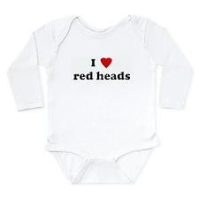 Red heads Long Sleeve Infant Bodysuit