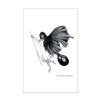 8 Ball Fairy Pool Angel Poster