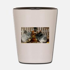 White Ebonies Chinchillas Shot Glass