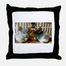 White Ebonies Chinchillas Throw Pillow