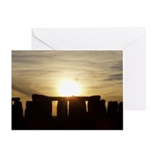 SUNSET AT STONEHENGE Greeting Card