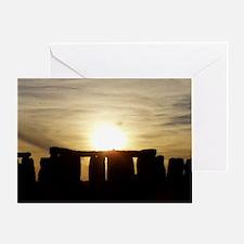 SUNSET AT STONEHENGE Greeting Card