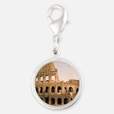 ROME COLOSSEUM Silver Round Charm