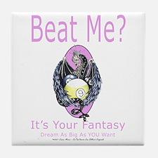 Beat Me Dragon Queen Tile Coaster