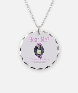 Beat Me Dragon Queen Necklace Circle Charm