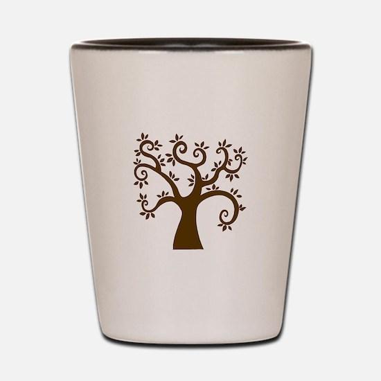 tree stylized nature graphic Shot Glass