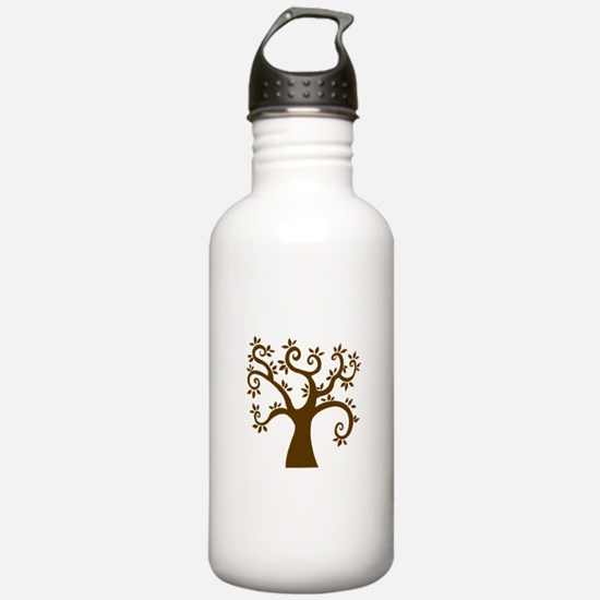tree stylized nature graphic Water Bottle