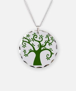 tree stylized nature graphic Necklace