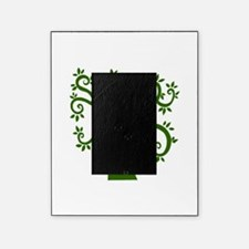 tree stylized nature graphic Picture Frame