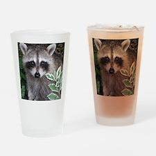 Baby Raccoon Photo Drinking Glass