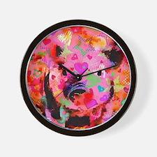 Sweet Piglet Graffiti Wall Clock