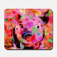 Sweet Piglet Graffiti Mousepad