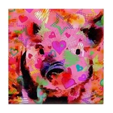 Sweet Piglet Graffiti Tile Coaster