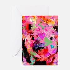 Sweet Piglet Graffiti Greeting Cards