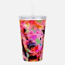 Sweet Piglet Graffiti Acrylic Double-wall Tumbler