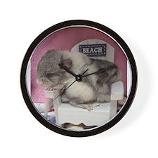 Twin Chins Wall Clock