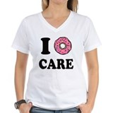 I donut care Womens V-Neck T-shirts