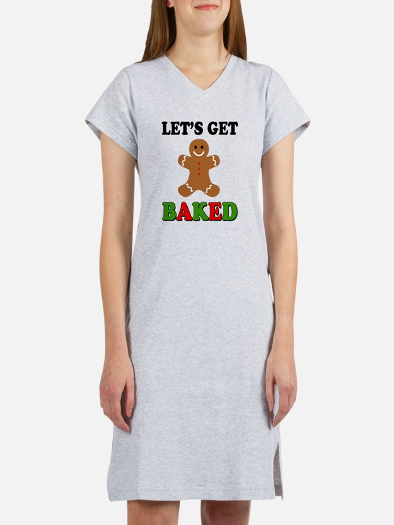 Cute Baked weed Women's Nightshirt