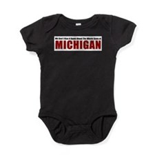 Cute State of michigan Baby Bodysuit