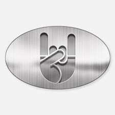 Stainless Rock Hand Sticker (Oval)