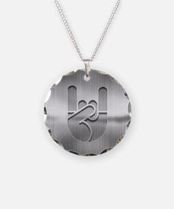 Stainless Rock Hand Necklace