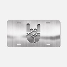 Stainless Rock Hand Aluminum License Plate