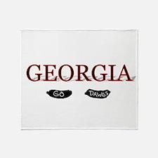 Georgia Bulldogs Throw Blanket