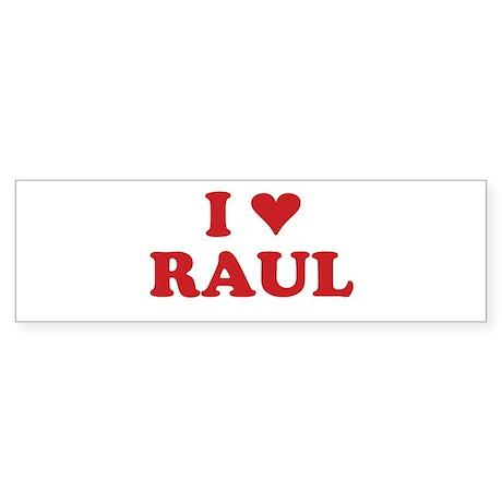 I LOVE RAUL Bumper Sticker