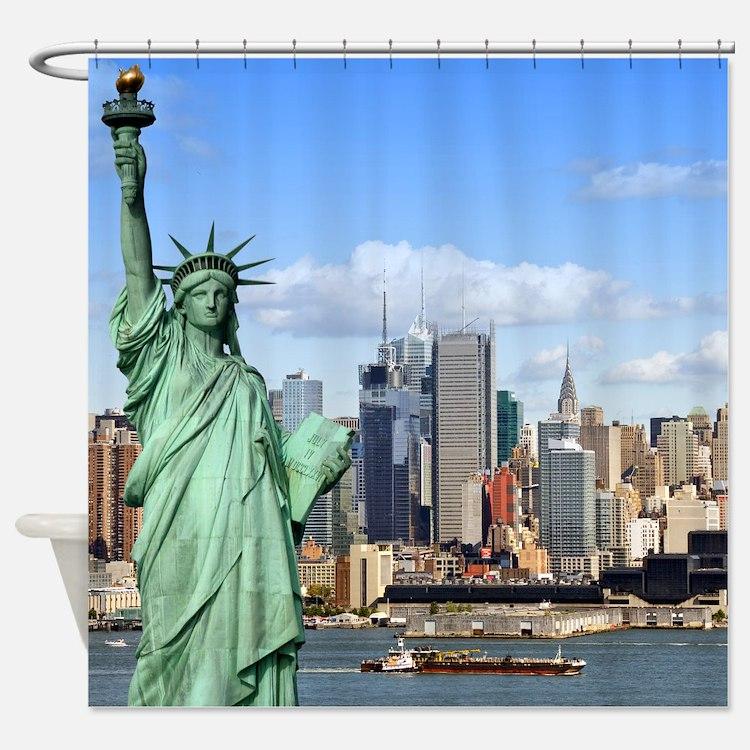 NY LIBERTY 1 Shower Curtain