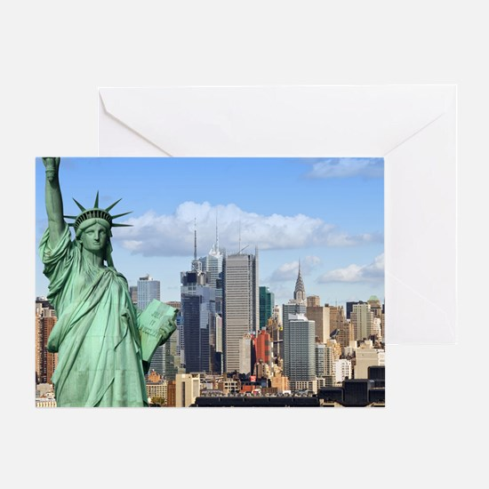 NY LIBERTY 1 Greeting Card