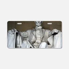 LINCOLN MEMORIAL Aluminum License Plate
