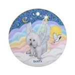 Dusty in Heavely Pastel Clouds Ornament (Round)