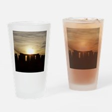 SUNSET AT STONEHENGE Drinking Glass