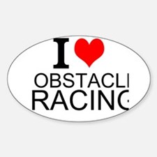 I Love Obstacle Racing Decal