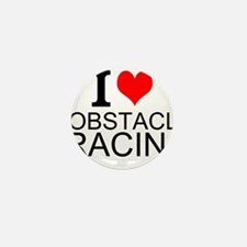 I Love Obstacle Racing Mini Button (10 pack)