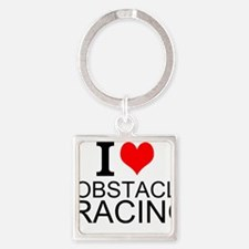 I Love Obstacle Racing Keychains