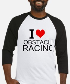 I Love Obstacle Racing Baseball Jersey