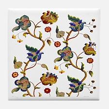 Albermarle Jacobean Embroidery Tile Coaster