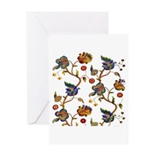 Albermarle Jacobean Embroidery Greeting Card
